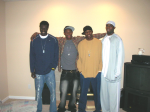Tijan (Jobe), Muhammed, Emmanuel and Beas at their U.S. home for Christmas