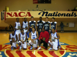 Burleigh (2nd from left, top row) and Beas (4th from left, top row) pictured with the 2006 All-Tournament team at the NACA Nationals in Tennessee